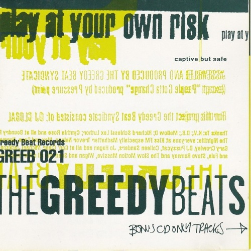 The Greedy Beat Syndicate – Play At Your Own Risk (2014 /(1993)) / Electronic, Abstract, Hip Hop,  Nu Jazz, Soul, Funk, Disco